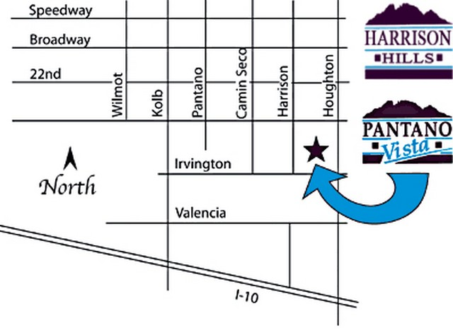 Map Directions Pantano Vista Harrison Hills Valley Vista